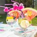SŁOMKI plastikowe Flamingi Tropical Party 12szt