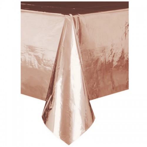 OBRUS foliowy metaliczny Rosegold 137 x 274cm