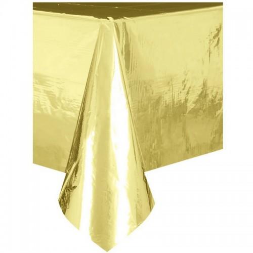 OBRUS foliowy metaliczny Złoty 137 x 274cm