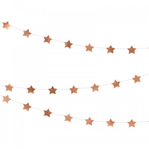 GIRLANDA metaliczne Gwiazdki 3,6m ROSEGOLD