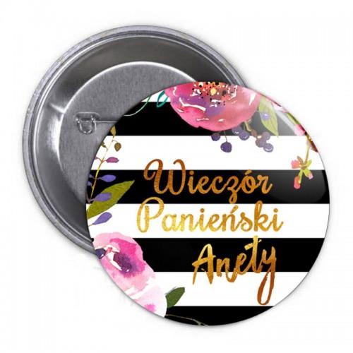 PRZYPINKA personalizowana Flowers&Stripes