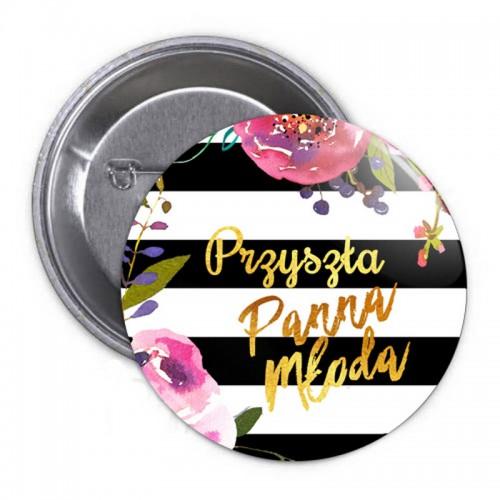 PRZYPINKA Przyszła Panna Młoda Flowers&Stripes (15)