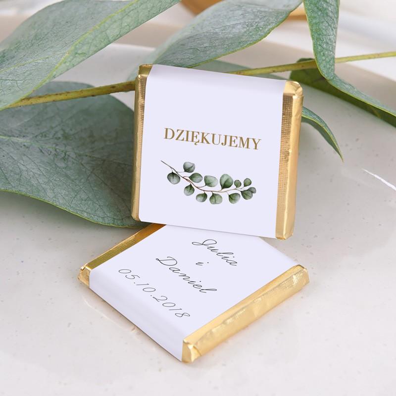 CZEKOLADKA ślubna Z IMIONAMI Eukaliptus