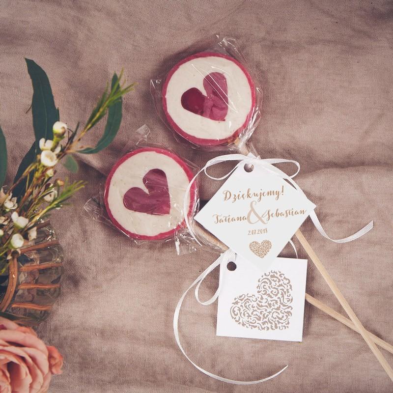 podziękowania dla gości weselnych lizaki