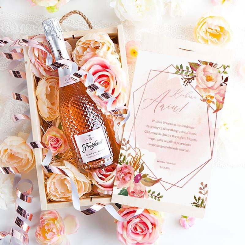 Prezent dla Przyszłej Panny Młodej szampan LUX
