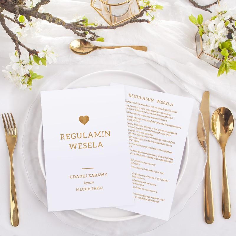 Regulamin wesela jako upominek dla gości