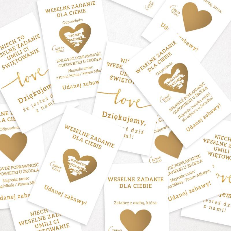 Zdrapki z zadaniami dla gości weselnych
