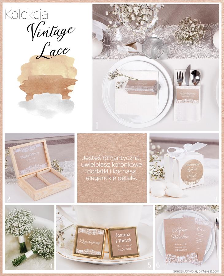dekoracje ślubne i weselne z koronką jak dekorować stół sklep ślubny love