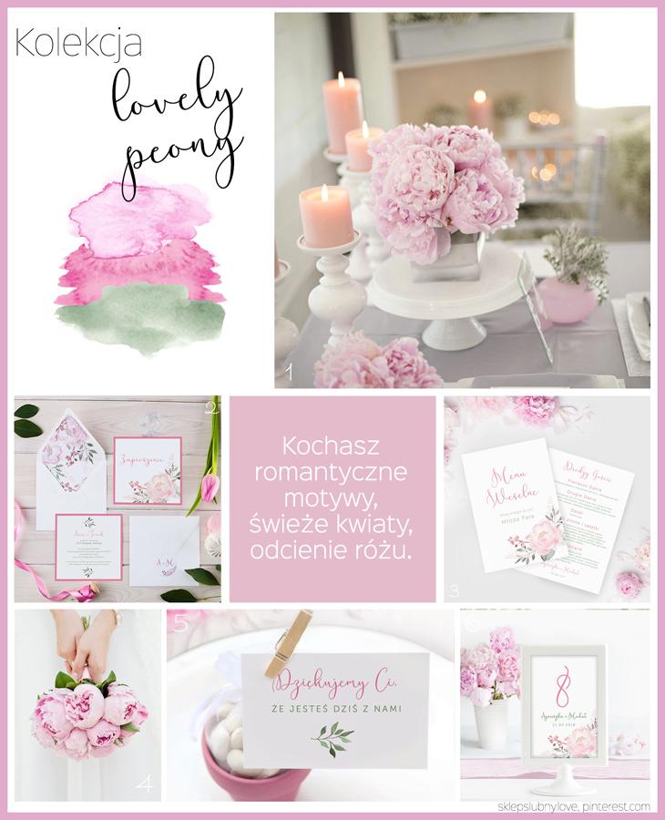 różowe dekoracje ślubne przykłady dekoracji stołu weselnego sklep ślubny love