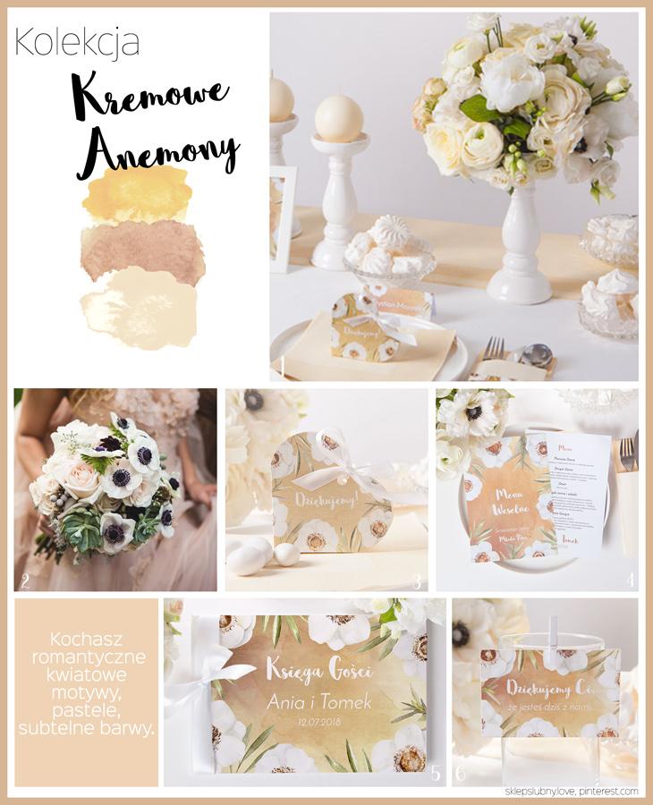 dekoracje ślubne krem