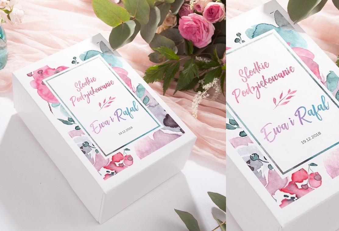 b4b0e6a6dfd0d2 Jak podziękować gościom weselnym? Pudełka na ciasto weselne