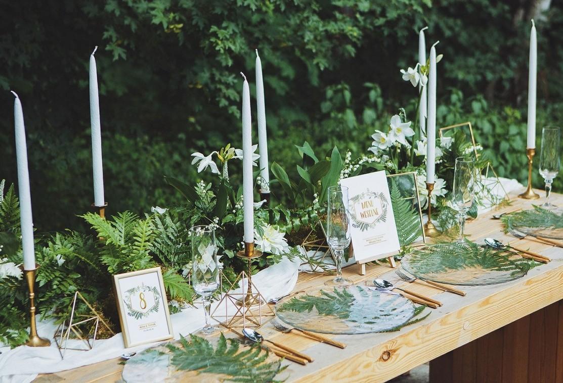 Dekoracje ślubne I Weselne W Stylu Greenery Natural I Botanicznym