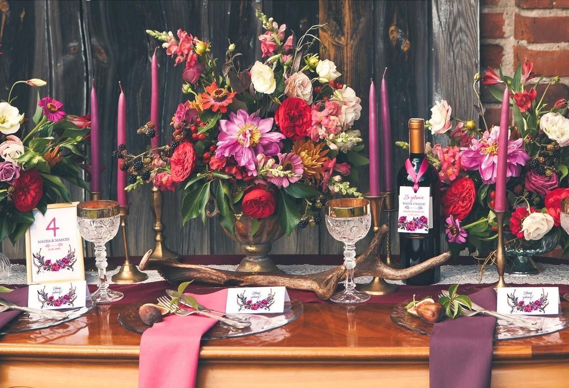 Jesienny ślub I Wesele W Stylu Boho Kolekcja Kwiaty Boho